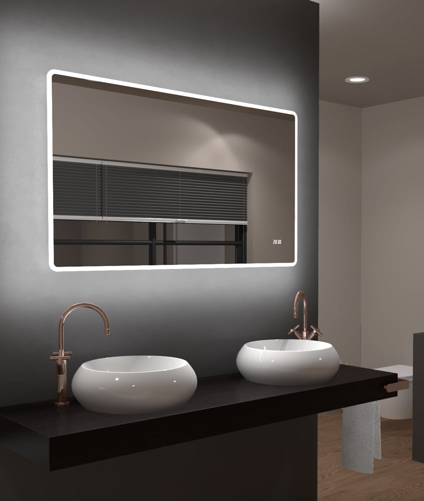 Badezimmerspiegel 120 Cm.Bathroom Mirror 120cm Width Talos Sun Lichtspiegel Shop