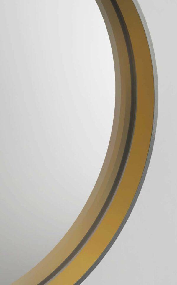 Dekospiegel rund TALOS Golden Style Rahmen