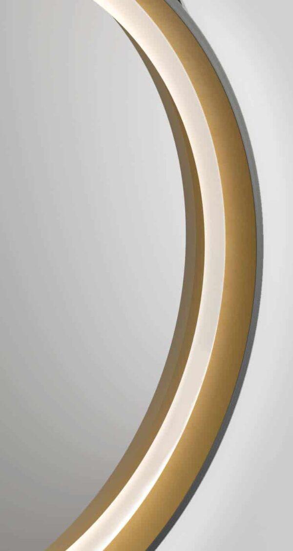 LED Wandspiegel rund TALOS Golden Summer Lichtleiste