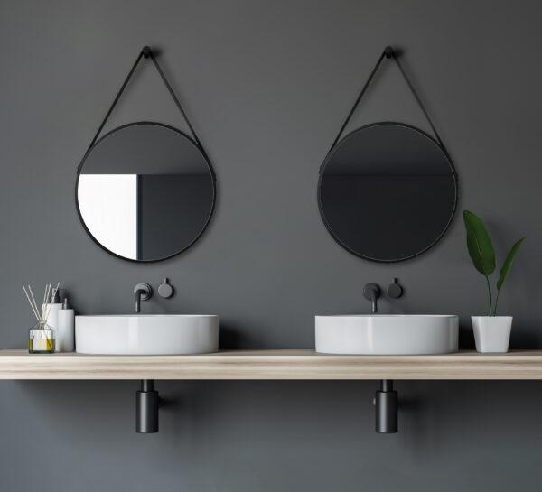 Bathroom mirror-TALOS-BLACK-VOGUE-Lichtspiegel-Shop