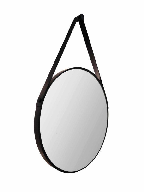Round decorative mirror in black Talos Black Style Freestanding