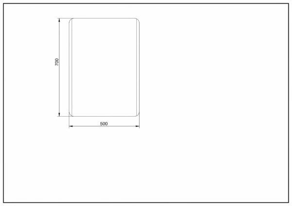 LED Badspiegel TALOS CHIC 70x50cm Maße