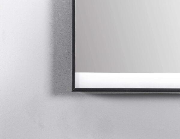 TALOS BLACK SHINE Badspiegel mit Licht 80x60cm schwarzer Rahmen matt