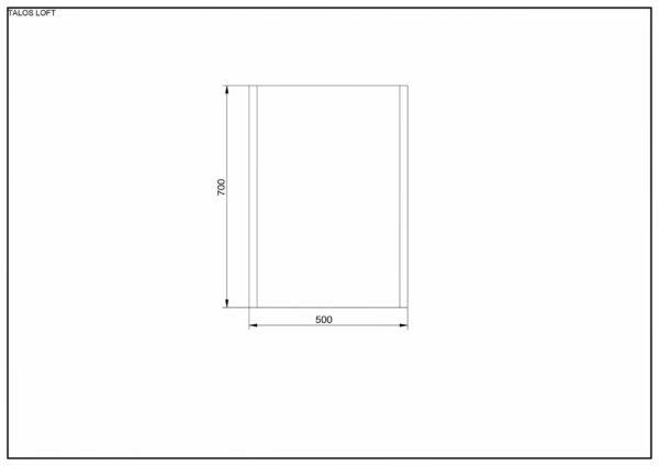 TALOS LOFT LED Lichtspiegel Maße
