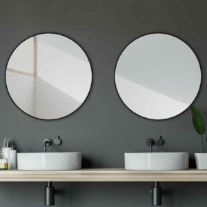 Wandspiegel-TALOS-BLACK-CIRCLE-Lichtspiegel-Shop