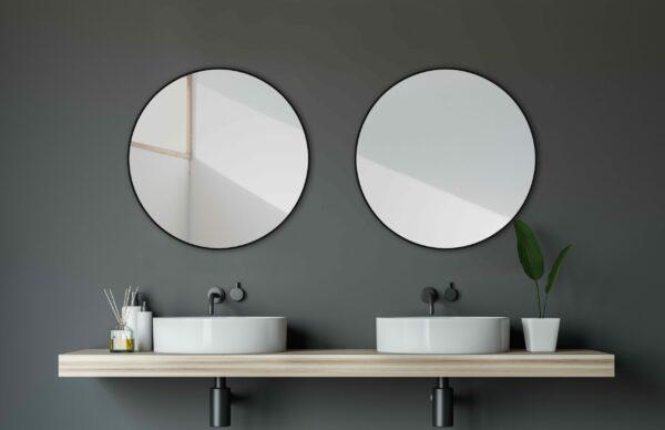Wall mirror-TALOS-BLACK-CIRCLE-Light mirror shop