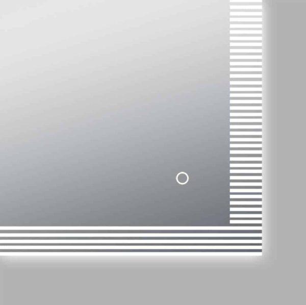 Miroir LED salle de bains TALOS TRACE Capteur On/Off Bouton Vue détaillée