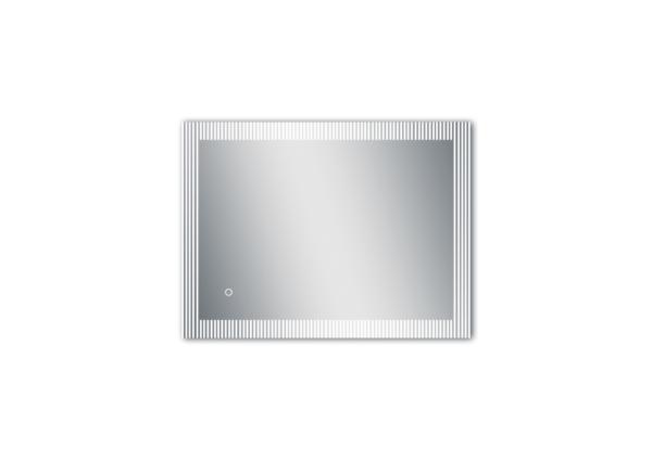 LED Spiegel Bad TALOS TRACE mit unterbrochener Lichtumrandung als Freisteller horizontal