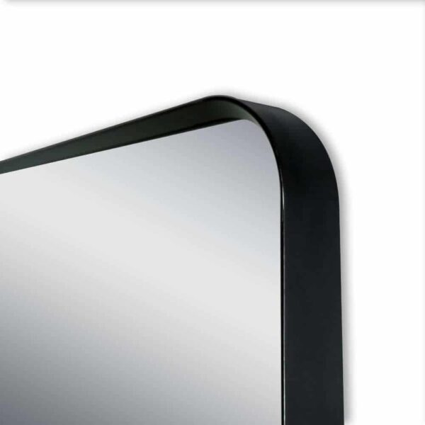 Wandspiegel schwarz TALOS BLACK LIVING Rahmen Detailansicht