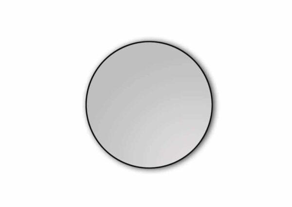 Round wall mirror on white background TALOS BLACK CIRCLE