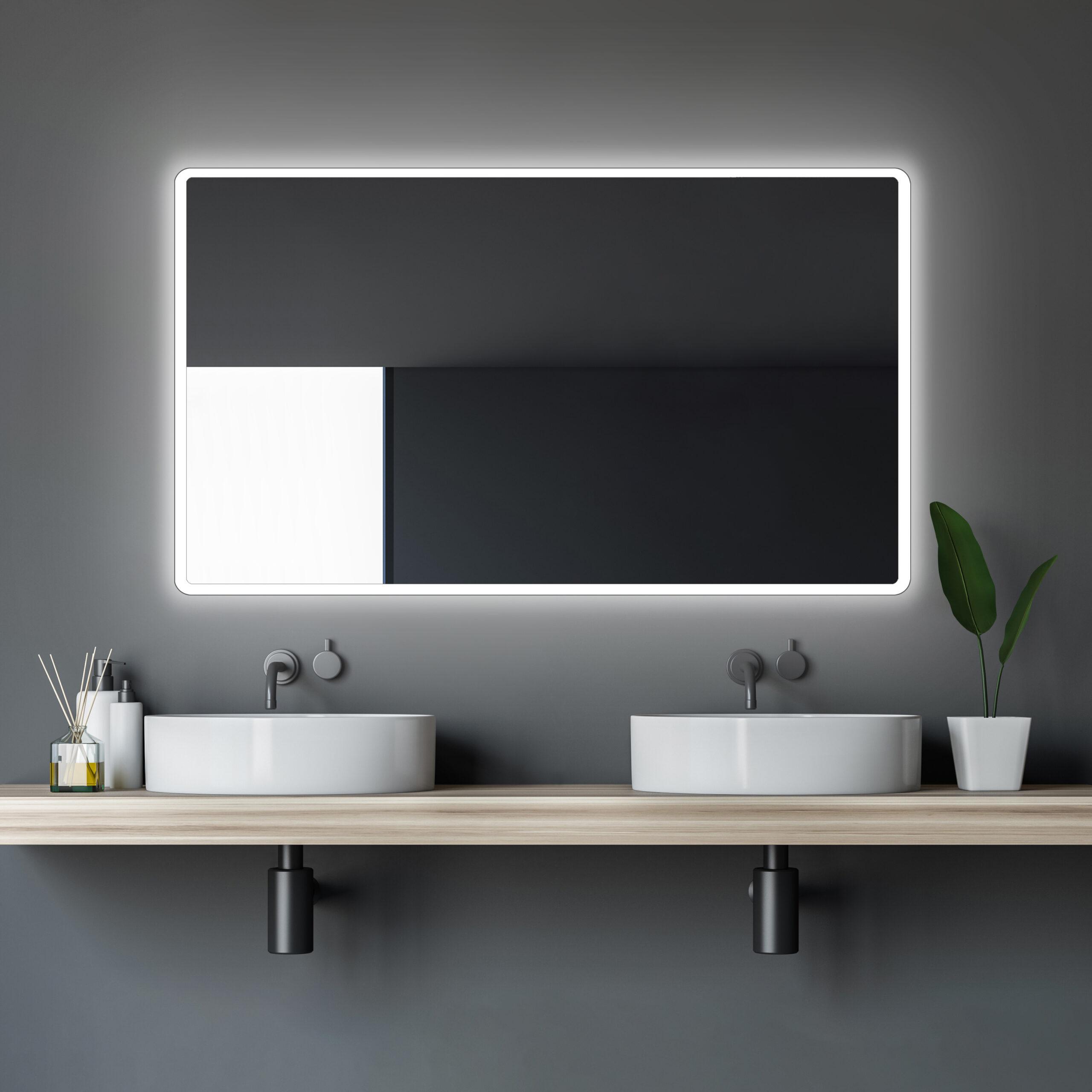 Bathroom Mirror With Lighting Talos Moon Lichtspiegel Shop