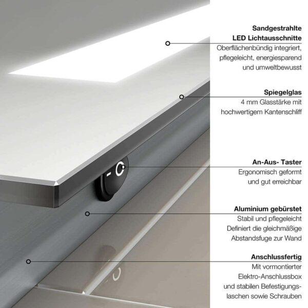Miroir de salle de bains LED TALOS PRIME Vue d'ensemble