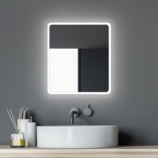 Espejo de baño con iluminación de 45 cm de ancho-TALOS-MOON-Lichtspiegel-Shop